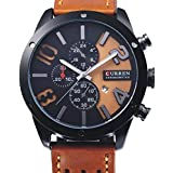Curren Men's Analog Leather Watch 8243
