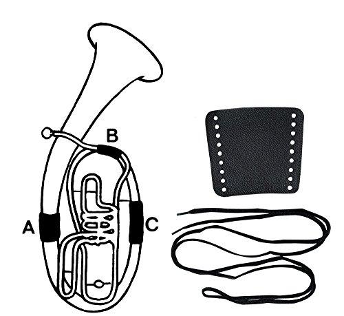 Gewa Handschutz Leder, Flügelhorn, Schnürverschluss