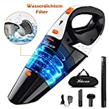 Handstaubsuager,Hikeren Akku Handsauger Kabellos,5000PA100W Nass&Trocken Handstaubsauger Akku,13.6V2500mAh Lithum-ion mit Waschbarer Filter,Doppelfiltration für Tierhaare,Liquid, Auto.UPGRADE
