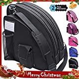 VENTCY Skischuhtasche Schlittschuhe Tasche Tasche Schlittschuhe Eislauf Rollschuhetasche Kinder Skifahren Nylon Rollschuhe Tasche mit Rucksackfunktion Wasserabweisend Schwarz