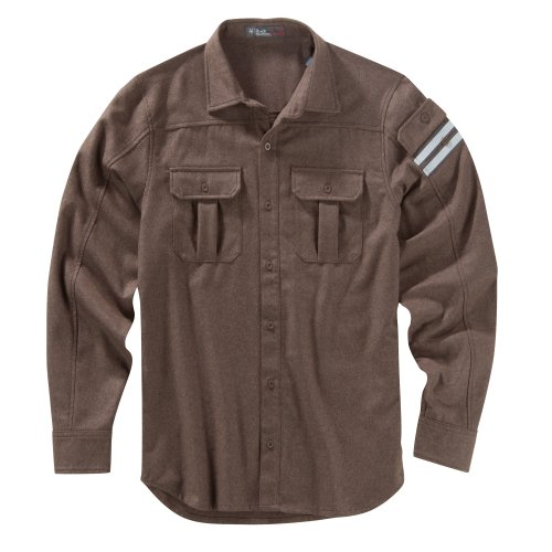Ibex Outdoor Bekleidung Herren Beacon Base Layer Shirt, damen Herren, Brown Metal Heather (Button-down-brown Bekleidung)
