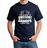 Snoogg Awesome Grandpa Casual Slogan / Funny / - Best Reviews Guide