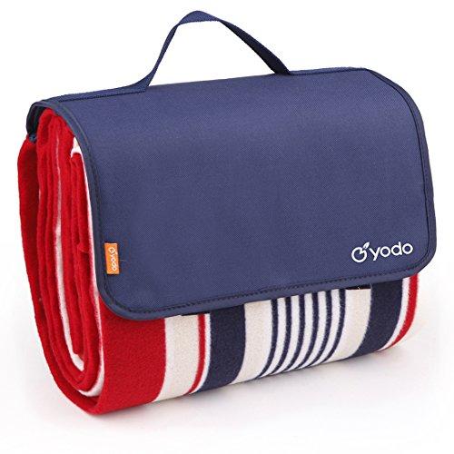 yodo-extra-large-impermeabile-coperta-da-picnic-tappeto-con-caldo-pile-navy-stripe-200-x-150-cm-200x