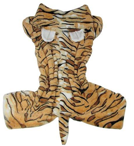selmai Tiger Kostüm Medium Hund Kleidung für Buchse/Stecker Hund Hoodie Kostüm Hund Schlafanzüge Hund - Tiger Kostüm Für Den Hunde
