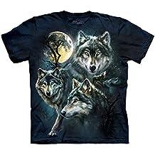 The Mountain Moon Wolves Col Kids Tee Camiseta, Niña, Azul, Large