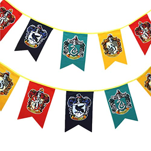Harry Banner Potter Wand Fahne, Gryffindor | Slytherin | Hufflepuff | Ravenclaw Flags für Bar House Party Dekoration ()