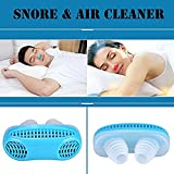 #7: ForeFox Anti Snoring Solution Air Purifier Filter Snore Stopper Device Chin Strap Nose Vent Solution for Comfortable Sleep (Blue)