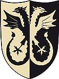 Fantashion F 36 - Ritter-Schild, Adler, Verkleiden und Kostüm, schwarz/weiß