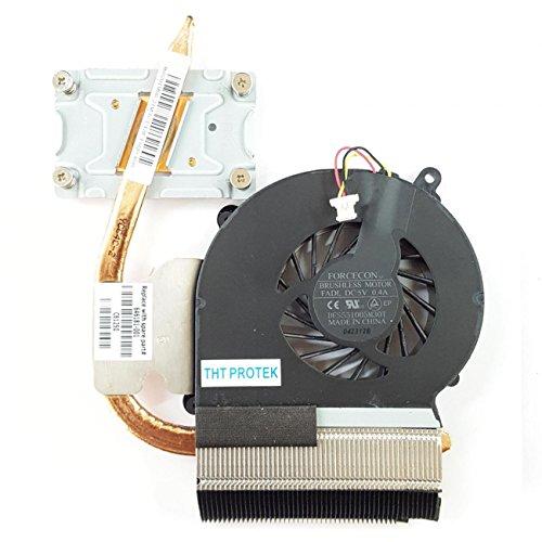 Compaq Kühlkörper (Lüfter Kühler FAN mit Kühlkörper kompatibel für HP Compaq Presario CQ57-400)