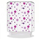 Kreativität Badezimmer Vorhang XXGI Duschvorhang aus Glas mit Vorhang Für Duschvorhang aus Formschönem Peva Klar Duschvorhang aus Duschvorhang mit Haken (180 * 180Cm/70.87 * 70.87Ins)