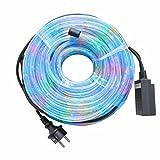 Tubo Luminoso 20 Metri Bianco Esterno Luci Natalizie per Natale Luce Multicolor