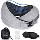 Travel Pillow-Memory Foam Neck Travel Pillows for Airplanes Cars Trains Offices and Home,Neck