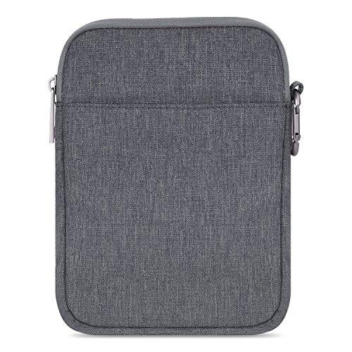 MoKo Kindle Paperwhite / Kindle Voyage Sleeve Hülle - Tragbare Nylon Schutzhülle Tasche für Amazon Kindle Paperwhite / Voyage / 6 inch Kindle Oasis / Kindle 8. / HD 6 6 Zoll, Dunkelgrau (Amazon Fire Handy Ohrhörer)