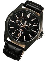 Orient Multi Eyes–Reloj automático Día Fecha piel Gun Color Señor Reloj de pulsera fet0r001b0