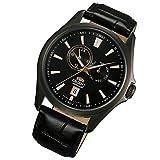 Orient Uhr Multi-Eyes Automatik Tag Datum Leder gun color Herrenarmbanduhr FET0R001B0