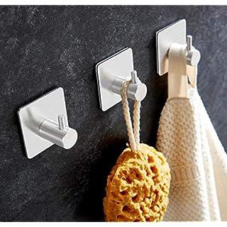 Allora Nest Handtuchhaken Haken Selbstklebend Bad und Küche Handtuchhalter Kleiderhaken Ohne Bohren 4 Stück