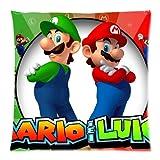 Super Mario und Luigi Custom Reißverschluss Kissen Kissen 45,7x 45,7cm (Zwei Seiten)