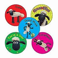 210 Mixed Shaun the Sheep Excellent Super Good Effort Work Childrens Pupils School Praise Teachers Reward Stickers 25mm Primary Teaching Services