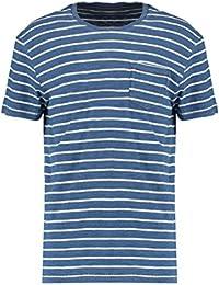 3547d899073b5c Pier One Herren T Shirt Gestreift mit Rundhals Ausschnitt   Brusttasche -  Streifen Tshirt Aus Baumwolle