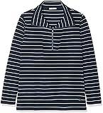 hajo Damen Langarmshirt Shirt, Blau (Marine 609), 48
