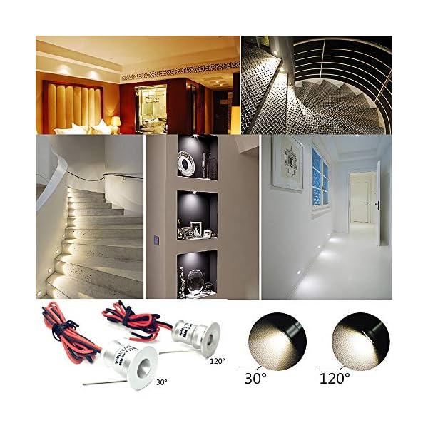 Faretto LED piccolo 9PCS 12V 1W da incasso luce cella per cucina, scale,  armadio, corridoio, illuminazione fai da te Vetrina luce da incasso da ...