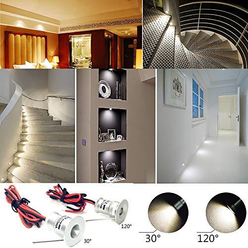 Faretto LED piccolo 9PCS 12V 1W da incasso luce cella per cucina ...