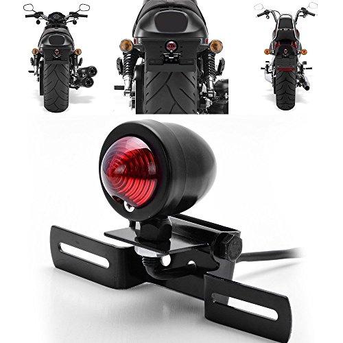 KaTur Motorrad-Bremslicht Schwanz Stop Lampe f/ür Harley Chopper Cruiser Racer Bobber Cafe Custom