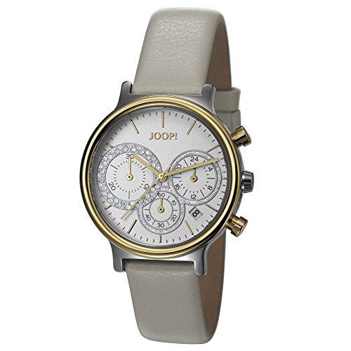 Joop! Damen-Armbanduhr Carla Chronograph Quarz Leder JP101502010