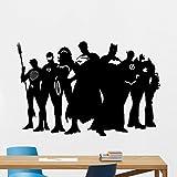 Autocollant mural Super Héros Marvel DC Comics super-héros Vinyle autocollant Superman Batman Wonder Woman Flash Superhero Motif art mural Housewares Chambre d'enfant Chambre à coucher Décor amovible Affiche murale 111zzz