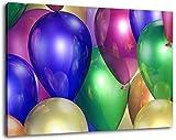 Colorful ballons Format: 120x80 cm images enfilées sur toile, des images énormes XXL complètement finis et encadrées de civière, impression d'art sur la photo murale avec cadre, moins cher que la peinture ou la photo, pas d'affiches ou de l'affiche