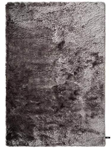 benuta Shaggy Hochflor Teppich Whisper Grau 80x150 cm | Langflor Teppich für Schlafzimmer und Wohnzimmer