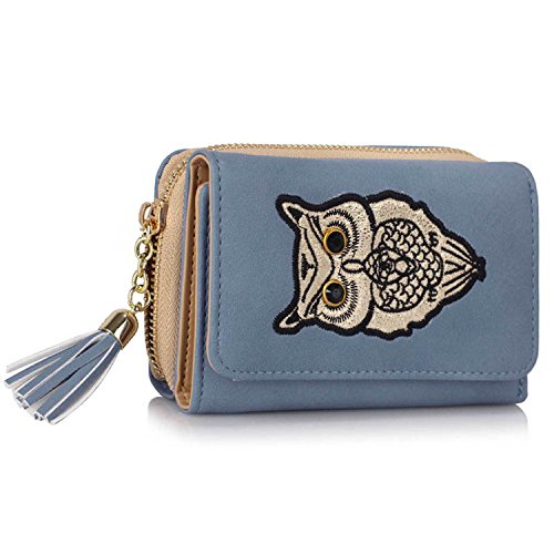 Xardi London Trifold-Portafoglio da donna con portamonete Notes-Clutch Bag Blue Style 2