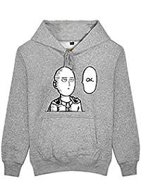 Xcoser Anime Kapuzen Pullover Saitama Cosplay Kostüm Baumwolle Sweatshirt Hoodie Top Pulli für Manga Zubehör Merchandise