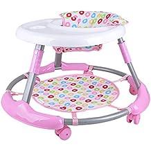 bebé andador paseante 7-18 meses bebé Prevenir rollover plegable chasis grande seguridad transpirable Moda linda
