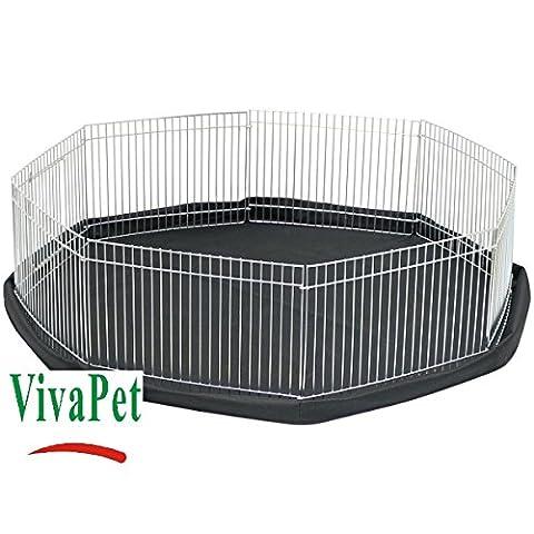 VivaPet 8Seiten Octagon Mini Laufgitter mit Wasser beständig Fußmatte