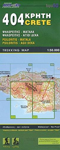 Psiloritis, Matala, Agii Deka (Crète), 1:50 K, Carte de randonnée, GPS compatible 2014 édition, ORAMA, # 404 par Orama Editions