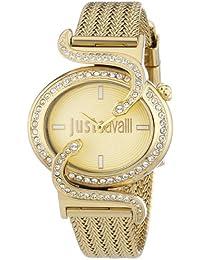 Just Cavalli Damen-Armbanduhr SIN Analog Quarz Edelstahl R7253591501