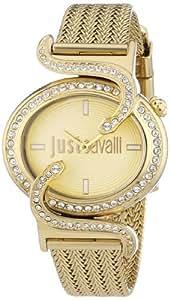 Just Cavalli - R7253591501 - Sin - Pendule Femme - Quartz Analogique - Cadran Doré - Bracelet Acier Violet