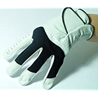 Rechtshänder Golfhandschuh SWING weiss S M L XL XXL Leder Echtleder