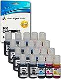 20 Tintenpatronen kompatibel zu 102 für Epson EcoTank ET-2700 ET-2750 ET-3700 ET-3750 ET-4750 - Schwarz/Cyan/Magenta/Gelb, hohe Kapazität (BK 127ml & C/M/Y 70ml)