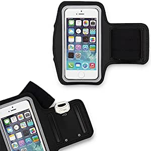 IDACA Black Adjustable Strap Jogging Walking Sports Armband Case Cover for New Apple iPhone 5S 5 5G