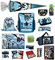 Familando Dragons Schulranzen-Set 25tlg. Federmappe, Sporttasche, Schultüte 85cm und Regenschutz