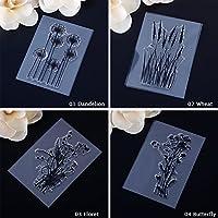 CALISTOUK Transparant MINI Plant Rubber Stamp DIY Craft Seal Paper Scrapbooking Decoration,Dandelion