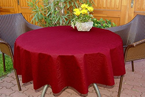 ODERTEX Abwaschbare Tischdecken 10x18 cm Muster, Material: 100{479b04ad3822e83d9a318341bf7aaaaf84cdacb773f83dc00e8e24ca86ea363a} Polyester, Farbe: Bordeaux-rot, Design: Leonardo