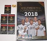 Rewe Sammelalbum DFB WM 2018 Neu Weltmeister Sonderalbum und 5 Tüten und bmg2000 Aufkleber