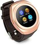 Mobilefit Bluetooth Smart Calling Watch Bluetooth dial-up/synchronized call logs/address book synchronization//sleep reminder/anti-lost ...(Golden) Compatible for Xiaomi Mi 4c Amazon Rs. 2499.00