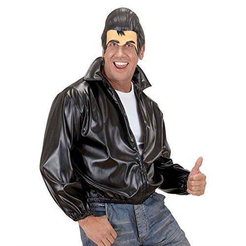 NET TOYS Kinnlose Maske Elvis mit Haartolle Grease Halbmaske 50er Jahre Herrenmaske Rock n Roll Kopfbedeckung Fifties Kopf Karnevalsmaske Mottoparty Faschingsmaske Kostüm Accessoire (Erwachsenen 50er Jahre Grease Kostüme)