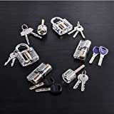MICG 6 Diferentes Tipos Práctica Candado Cerradura De Formación Para Cerrajero Juego De Ganzúas Visible Cutaway Común Lock Tipos