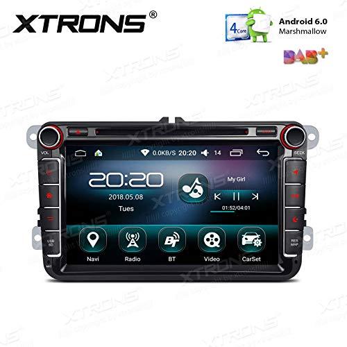 XTRONS - Reproductor de Radio estéreo para Coche con Doble DIN Android de 8 Pulgadas con procesador Quad Core con 2 GB de RAM 16 GB ROM para VW Golf Seat Skoda