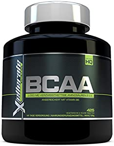 BCAA Tablette 1000 mg - 425 Tabletten - 3000 mg Tagesbedarf - 141 Tage Vorrat...